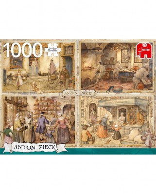 Puzzle Jumbo - Anton Pieck: Bakers from 19th Century, 1.000 piese (18818)