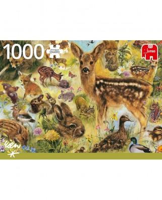 Puzzle Jumbo - Young Wildlife, 1.000 piese (18819)