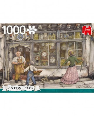 Puzzle Jumbo - Anton Pieck: The Clock Shop, 1.000 piese (18826)