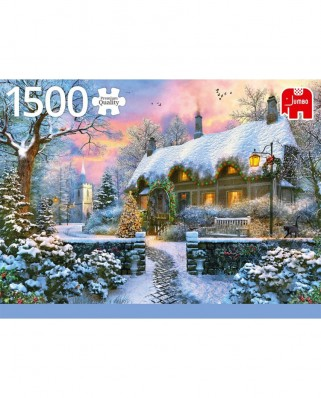 Puzzle Jumbo - Whitesmith's Cottage in Winter, 1500 piese (18830)