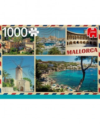 Puzzle Jumbo - Greetings from Mallorca, 1.000 piese (18836)
