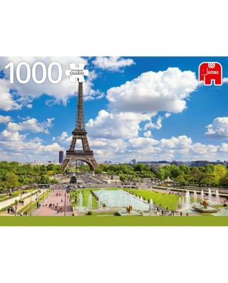 Puzzle Jumbo - Eiffel Tower in Summer, 1.000 piese (18847)