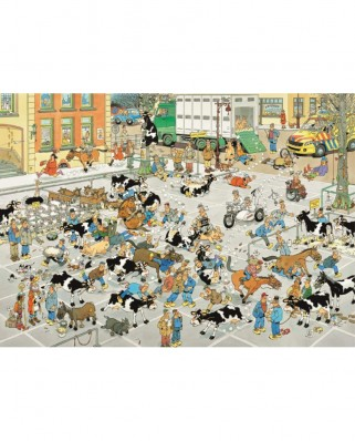 Puzzle Jumbo - Jan Van Haasteren: The Cattle Market, 1.000 piese (19075)