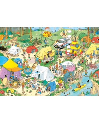 Puzzle Jumbo - Jan Van Haasteren: Camping in The Forest, 2.000 piese (19087)