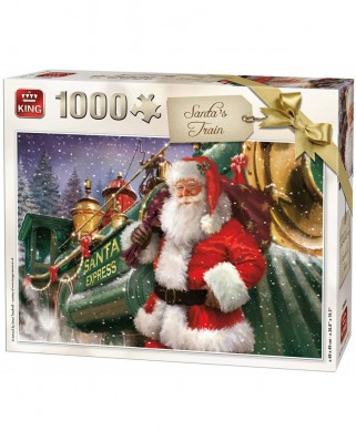 Puzzle King - Christmas Santa Train, 1.000 piese (05684)