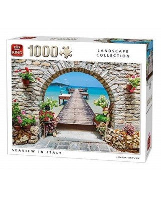 Puzzle King - Seaview in Italy, 1.000 piese (05710)