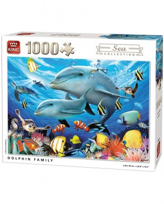 Puzzle King - Dolphin Family, 1.000 piese (55845)