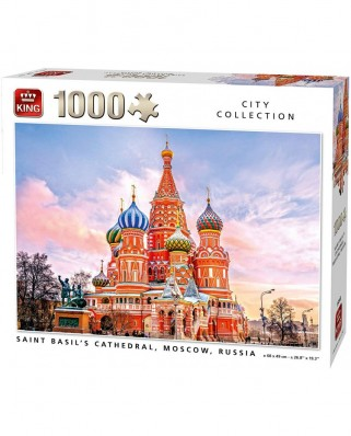 Puzzle King - Saint Basil's Cathedral Moscow, 1.000 piese (55848)
