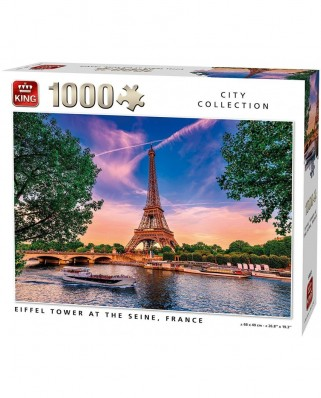 Puzzle King - Eiffel Tower at The Seine, 1.000 piese (55851)