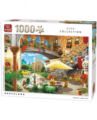 Puzzle King - Barcelona, 1.000 piese (55853)