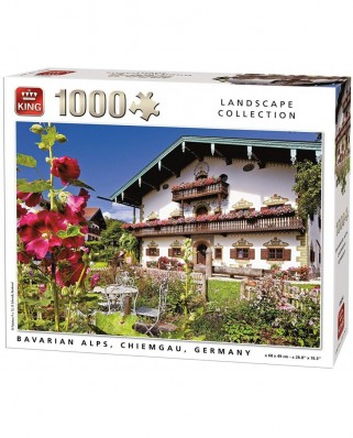 Puzzle King - Bavarian Alps Chiemgau, 1.000 piese (55854)