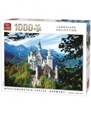 Puzzle King - Neuschwanstein, 1.000 piese (55855)