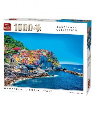 Puzzle King - Manarola Italy, 1.000 piese (55856)