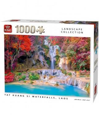 Puzzle King - Tat Kuang Si Waterfalls Laos, 1.000 piese (55857)