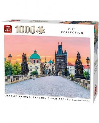 Puzzle King - Charles Bridge, Prague, 1.000 piese (55859)