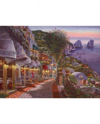 Puzzle King - Evening Capri, 1000 piese (55863)