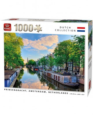 Puzzle King - Prinsengracht Canal Amsterdam, 1.000 piese (55867)