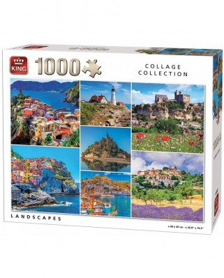 Puzzle King - Collage - Landscapes, 1.000 piese (55880)