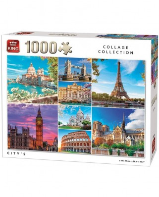 Puzzle King - Collage - City's, 1.000 piese (55881)