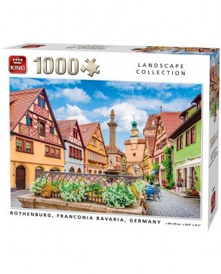 Puzzle King - Rothenburg Germany, 1.000 piese (55883)