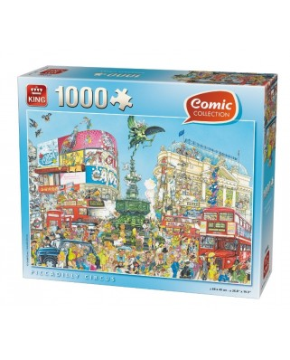 Puzzle King - Comic Collection - Piccadilly Circus, 1.000 piese (K05082)