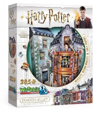 Puzzle 3D din spuma Wrebbit - Harry Potter - Weasleys' Wizard Wheezes & Daily Prophet, 280 piese (Wrebbit-3D-0511)
