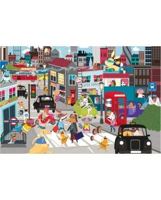 Puzzle Gibsons - Superhero City, 36 piese (G1032)