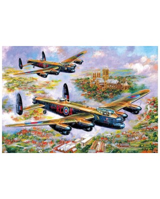 Puzzle Gibsons - Jim Mitchell: Lancasters Over Lincoln, 500 piese (G3113)