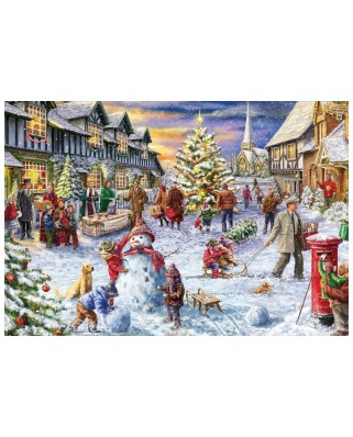 Puzzle Gibsons - Marcello Corti: A White Christmas, 500 piese (G3409)