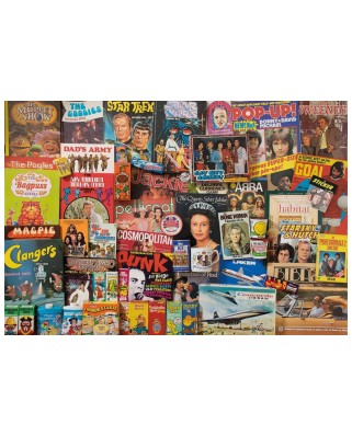 Puzzle Gibsons - Robert Opie: Spirit of The 70's, 500 piese (G3413)