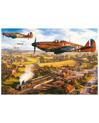Puzzle Gibsons - Nicolas Trudgian: Tangmere Hurricanes, 500 piese (G3418)