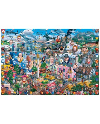 Puzzle Gibsons - Mike Jupp: I Love Great Britain, 500 piese (G3419)
