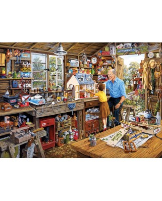 Puzzle Gibsons - Grandad's Workshop, 500 piese XXL (G3533)