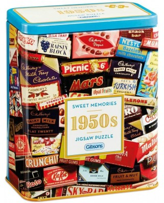 Puzzle Gibsons - 1950s Sweet Memories, 500 piese (G3830)
