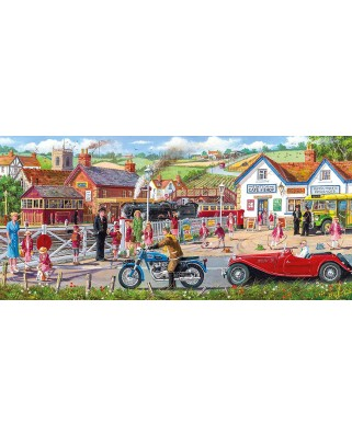 Puzzle panoramic Gibsons - Derek Roberts: Railroad Crossing, 636 piese (G4046)