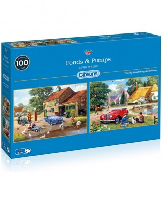 Puzzle Gibsons - Kevin Walsh: Ponds & Pumps, 2x500 piese (G5050)