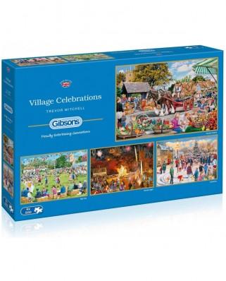 Puzzle Gibsons - Trevor Mitchell: Village Celebrations, 4x500 piese (G5051)