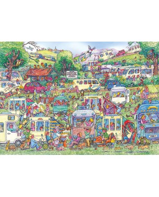 Puzzle Gibsons - Armand Foster: Caravan Chaos, 1.000 piese (G6258)