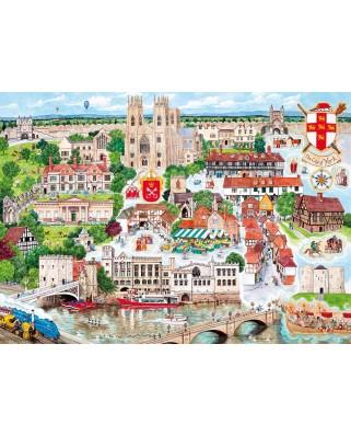 Puzzle Gibsons - Linda Benton: York, 1.000 piese (G6265)