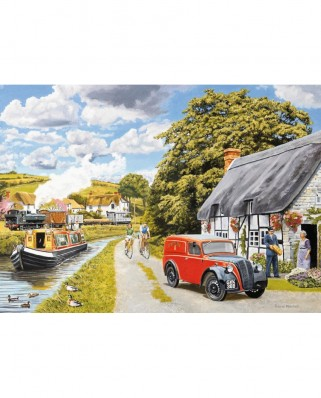 Puzzle Falcon - Parcel for Canal Cottage, 200 piese XXL (Jumbo-11214)