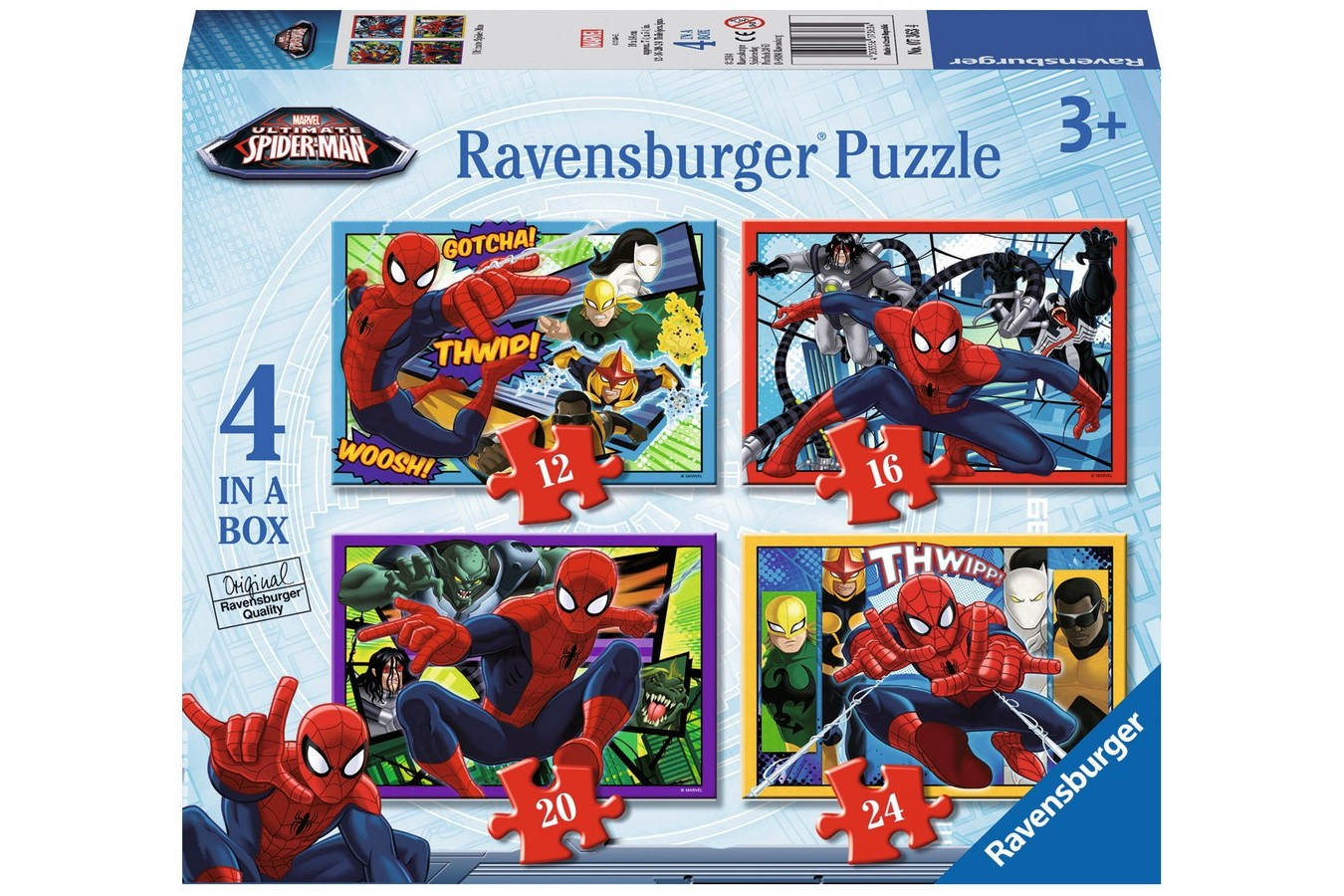 Puzzle Ravensburger - Spiderman, 12/16/20/24 piese (07363)