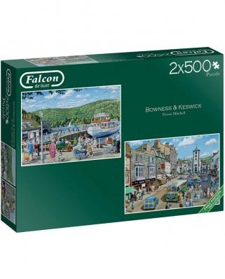 Puzzle Falcon - Bowness and Keswick, 2x500 piese (Jumbo-11238)