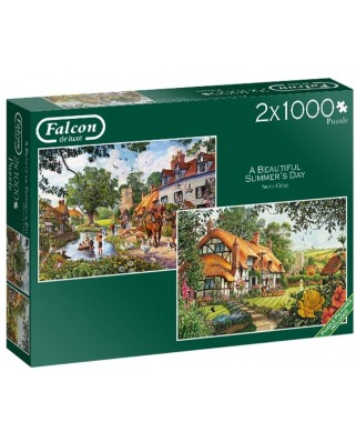 Puzzle Falcon - Beautiful Summer's Day, 2x1.000 piese (Jumbo-11248)