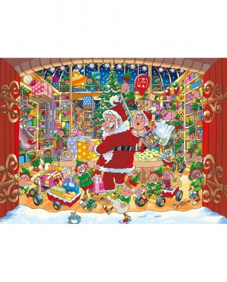 Puzzle Jumbo - Wasgij Christmas 15 - Santa's Unexpected Delivery!, 2x1.000 piese (19172)