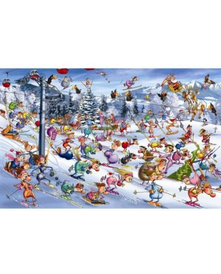 Puzzle Piatnik - Francois Ruyer: Christmas Skiing, 1.000 piese (5351)