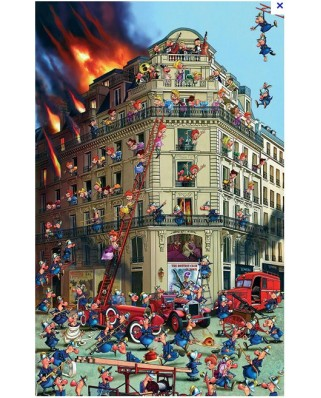 Puzzle Piatnik - Francois Ruyer: The Firefighters, 1.000 piese (5354)