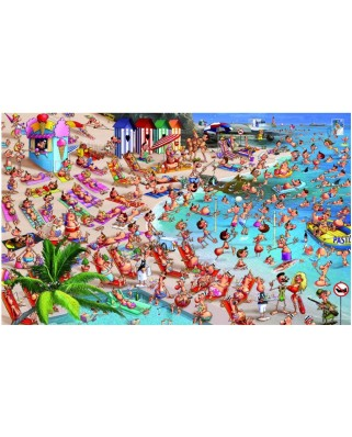 Puzzle Piatnik - Francois Ruyer: The beach, 1.000 piese (5367)