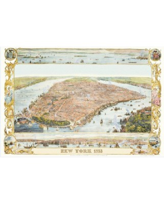 Puzzle Piatnik - New York City Map, 1853, 1.000 piese (5429)