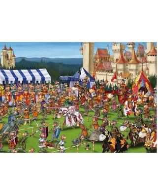 Puzzle Piatnik - Francois Ruyer: Medieval Games, 1.000 piese (5440)