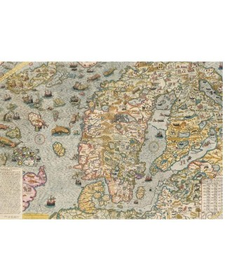 Puzzle Piatnik - Maritime Map, 1.000 piese (5456)